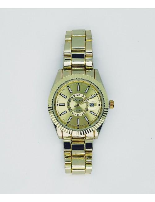 Γυναικείο ρολόι με μεταλλικό μπρασελέ Ρ-16 χρυσό