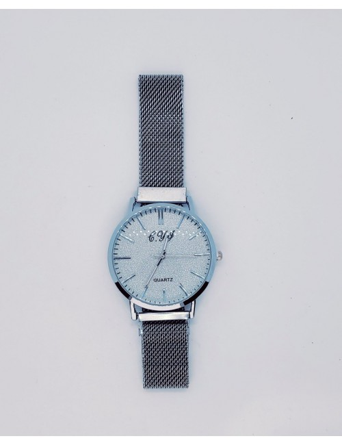 Γυναικείο ρολόι με μεταλλικό μπρασελε με μαγνήτη Ρ-21 ασημι