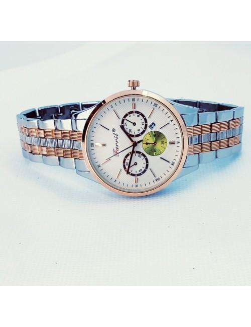 Γυναικείο ρολόι με μεταλλικό μπρασελέ Ρ-10 ασημί