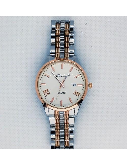 Γυναικείο ρολόι με μεταλλικό μπρασελέ Ρ-08 ασημί