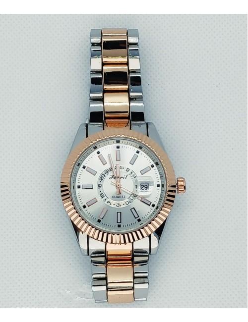 Γυναικείο ρολόι με μεταλλικό μπρασελέ Ρ-06 ασημί