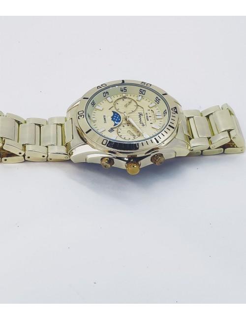 Γυναικείο ρολόι με μεταλλικό μπρασελέ Ρ-17 χρυσό