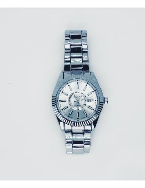 Γυναικείο ρολόι με μεταλλικό μπρασελέ Ρ-18 ασημι