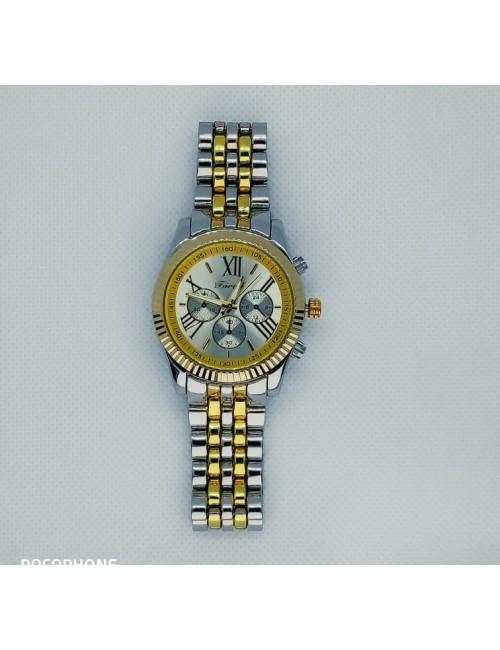 Γυναικείο ρολόι με μεταλλικό μπρασελέ Ρ-10 ασημί-χρυσό