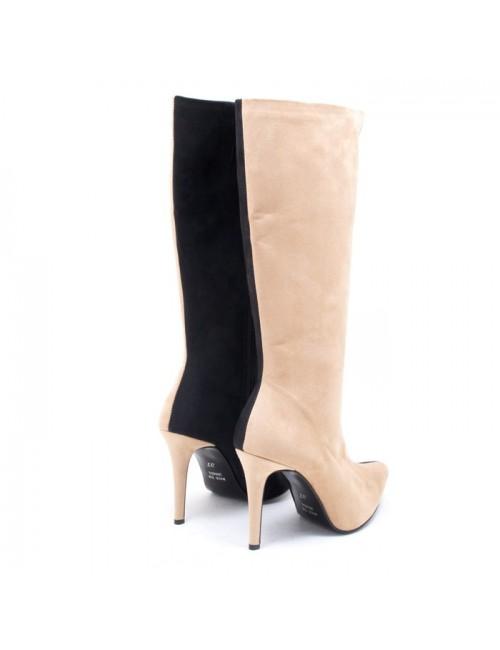 Γυναικεία μπότα Katia shoes 97 Δερμάτινη Ναμπούκ Πούρο Ελληνική
