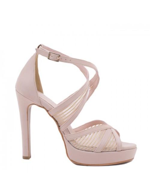 Γυναικείο πέδιλο Katia Shoes A3223 Πούδρα Σενιλ (Ελληνικό)
