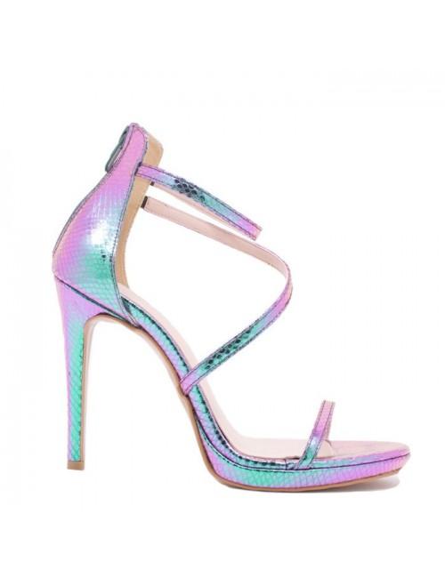Γυναικείο πέδιλο Katia Shoes Α224924 Πετρολ (Ελληνικό)