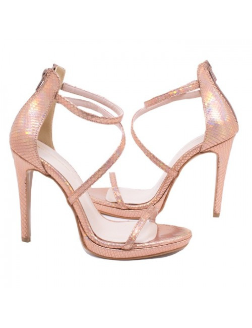 Γυναικείο πέδιλο Katia Shoes Α224924 Χαλκός (Ελληνικό)