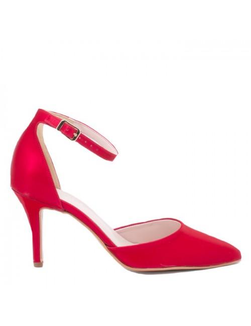 Γυναικείες γόβες Katia Shoes 1540 κόκκινες (Ελληνικές)