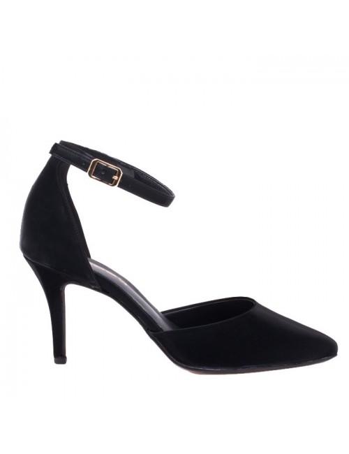 Γυναικείες γόβες Katia Shoes 1540Μ Μαύρες (Ελληνικές)