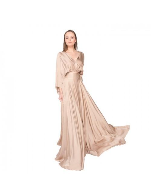 Γυναικεία φούστα Lace μπέζ (M-5174)