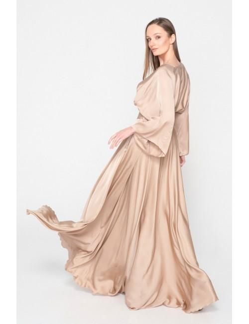 Γυναικείο TOP Lace μπέζ  M-1491