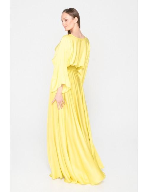 Γυναικεία φούστα Lace κίτρινο M-5174