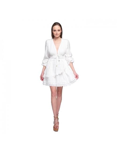 Γυναικείο φόρεμα Lace Λευκό (M-2941)