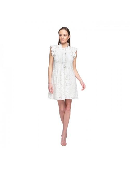 Γυναικείο φόρεμα Lace Λευκό Δαντέλα M-2927