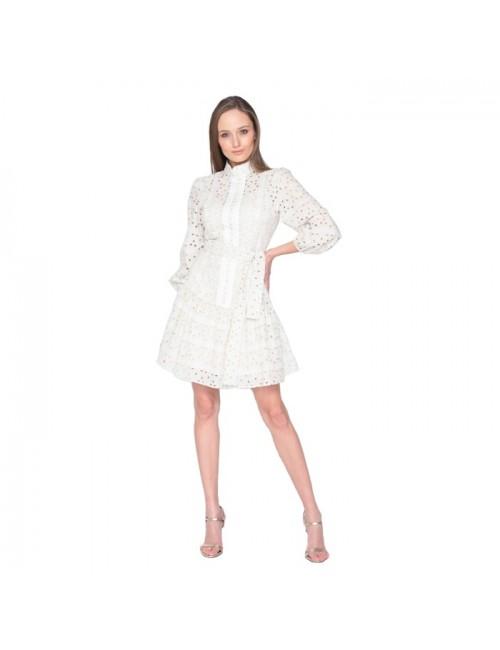 Γυναικείο φόρεμα Lace Λευκό Χρυσοκέντητο M-2933