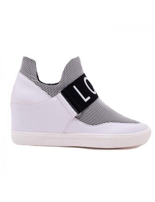 Γυναικεία sneakers Lara Conte MADRID K3700004405F-IRIS-010 Μαύρο-Λευκό (memory foam)
