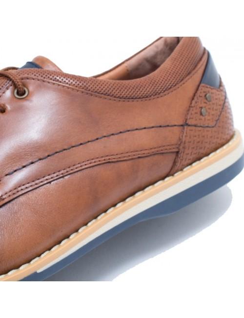 Ανδρικό δετό παπούτσι Nikolas 1815 Ταμπά