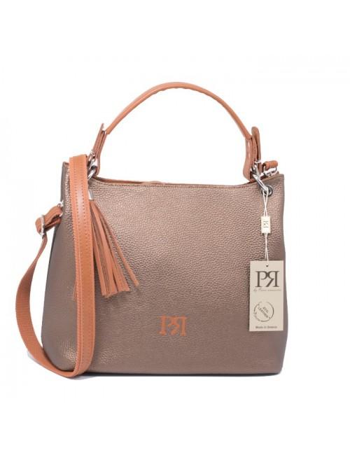 Γυναικεία Τσάντα ώμου Pierro 90519DL29 μπρονζέ