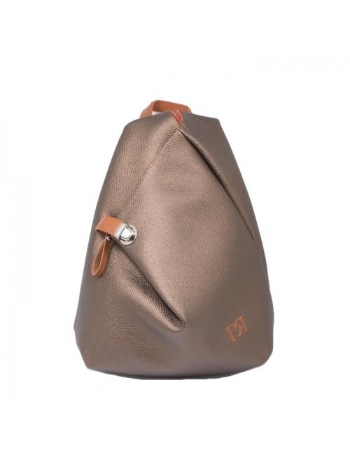Γυναικείο σακίδιο πλάτης Pierro 09517DL011 μπρονζέ