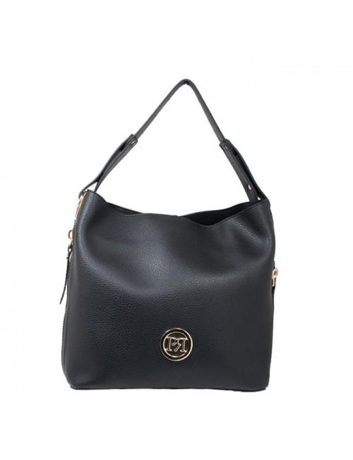 Γυναικεία Τσάντα ώμου Pierro 90607DL11μαύρο
