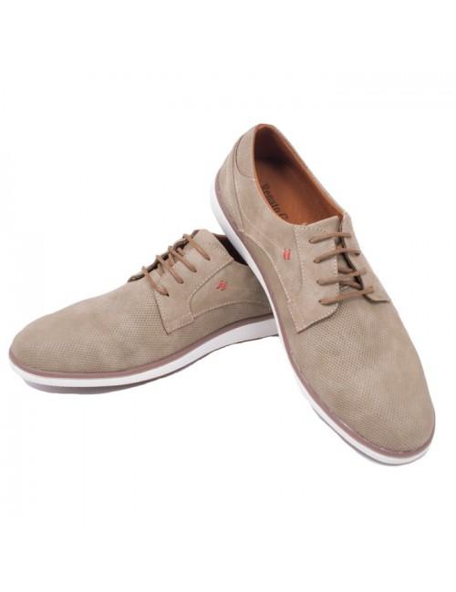 Ανδρικό δετό παπούτσι Renato Garini K564L194105105 Μπεζ