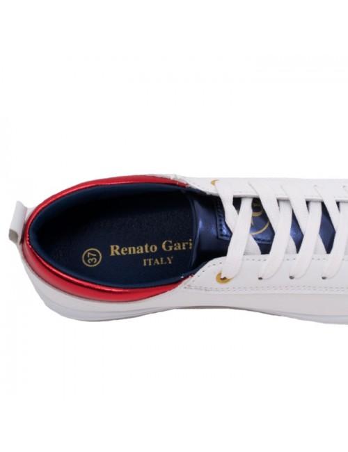Γυναικεία sneakers RENATO GARINI K157Q700131M Λευκό-Κόκκινο-Μπλε(memory foam)