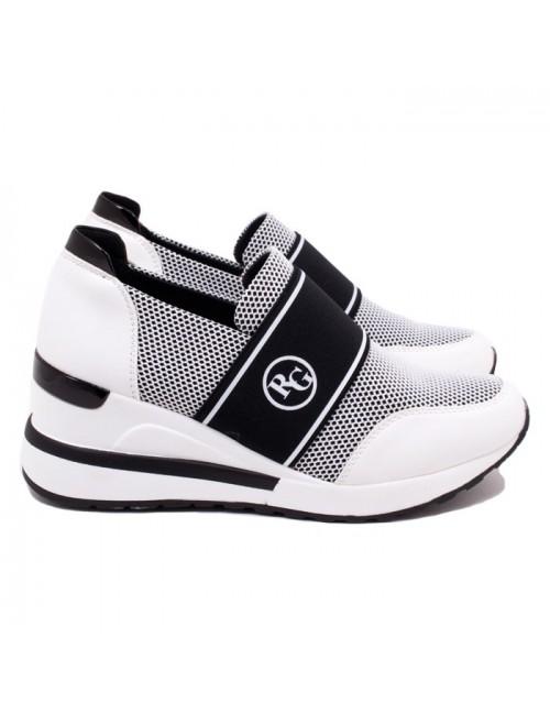 Γυναικεία sneakers RENATO GARINI J119R1283483-EX2158 Λευκό-Μαύρο (memory foam)