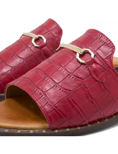 Γυναικεία σανδάλια Smart Cronos 7104-1084 Κόκκινο-Κροκό