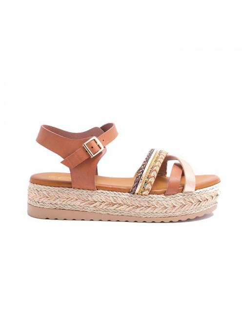 Γυναικείο παπούτσι EXE  M468Q931230T δέρμα ροζ χρυσο