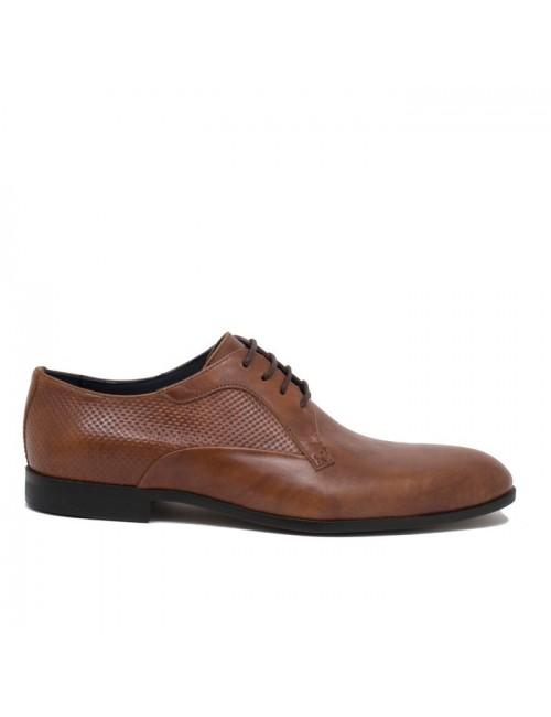 Ανδρικά δερμάτινα παπούτσια Kalt 511-1 Ταμπά