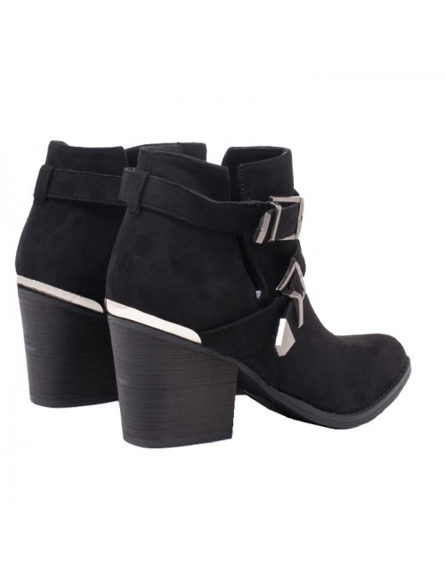 Γυναικεία μποτάκια Western BUYBRAND C9756 black