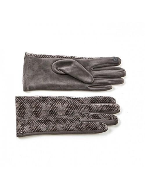 Γυναικεία γάντια verde 02-0000536 Γκρί