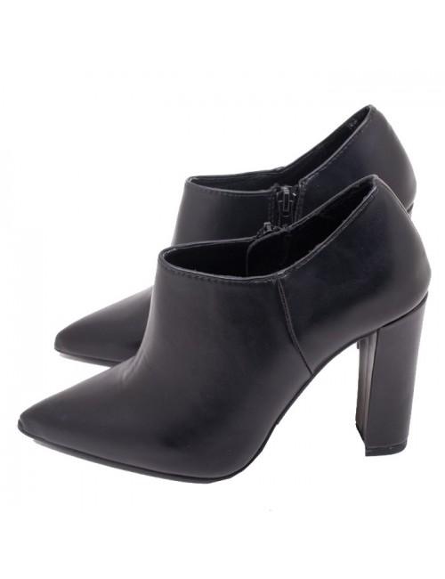 Γυναικείο μποτάκι Ankle boots EXE J37007775 001 Δερμάτινο Μαύρο