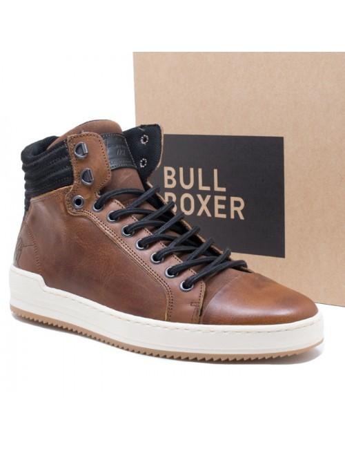 Ανδρικό μποτάκι Bull Boxer J5775386253203 δερμάτινο ταμπά