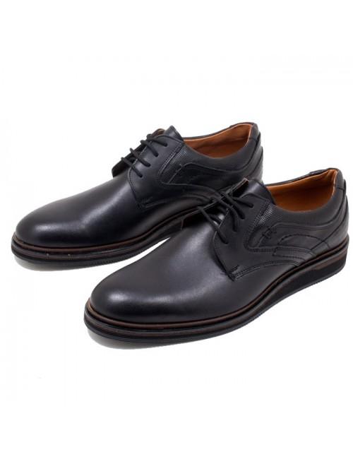 Ανδρικό δετό παπούτσι BUYBRAND 30 ελληνικό δερμάτινο μαύρο