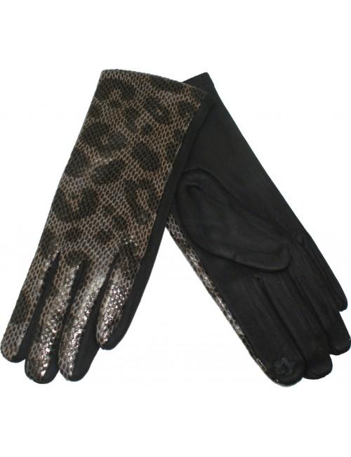 Γυναικεία γάντια verde 02-0000538 Γκρί-Animal