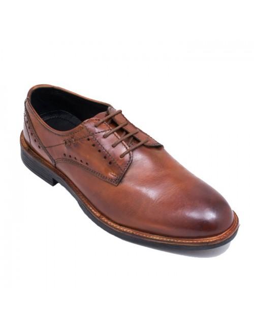Ανδρικό παπούτσι LA CUOIERIA 17101 ΚΑΦΕ