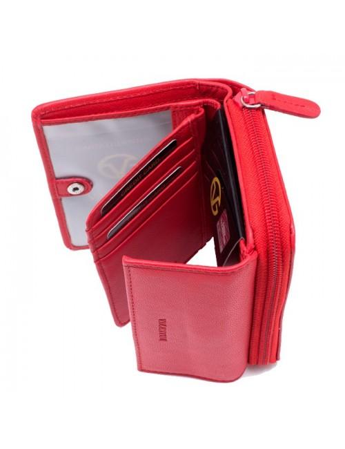 Γυναικείο πορτοφόλι VALENTINI 306-156 Δερμάτινο Ιταλικό Κόκκινο