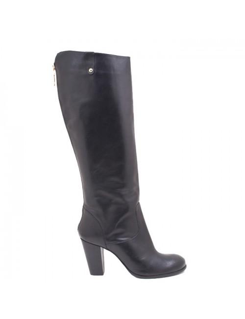 Γυναικεία μπότα  Tsakiris Mallas J249S0032002 Δερμάτινη Μαύρη