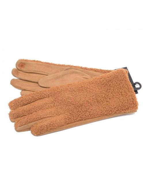 Γυναικεία γάντια verde 02-0000549 Camel