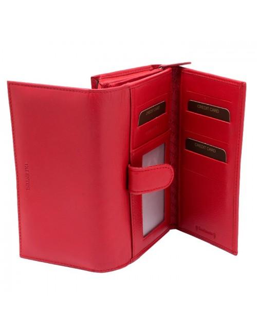 Γυναικείο πορτοφόλι VALENTINI 306-15 Δερμάτινο Ιταλικό Κόκκινο