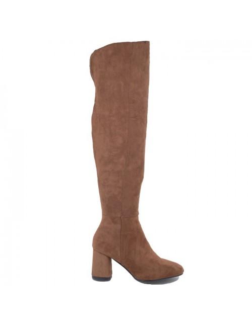 Γυναικεία μπότα BUYBRAND B8730 Συνθετικό-Καστόρι Camel