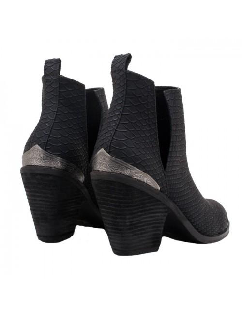 Γυναικεία μποτάκια Western EXE   J37005885J26 Μαύρο Anaconda TSAKIRIS MALLAS