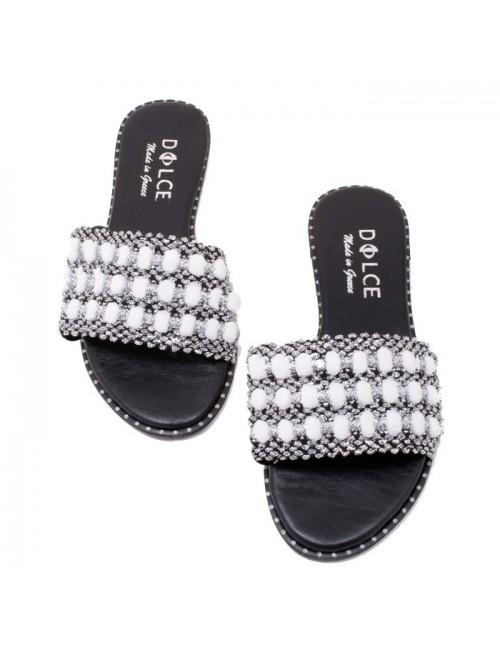 Γυναικείο flat παπούτσι DOLCE Ε190502 ΛΕΥΚΟ