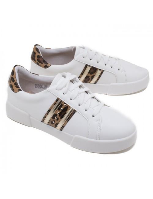 Γυναικείο sneakers BUYBRAND G295 ΛΕΥΚΟ
