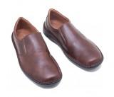Ανατομικά ανδρικά casual παπούτσια nicon 82-1 Δερμάτινα Κάμελ Ελληνικά