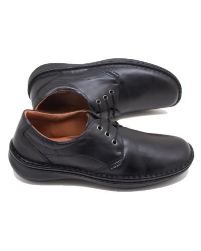 Ανατομικά ανδρικά casual παπούτσια nicon 80-1 Δερμάτινα Μαύρα Ελληνικά