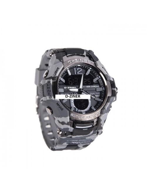 Ανδικό ρολόι D-ZINER dz8253 camo γκρι