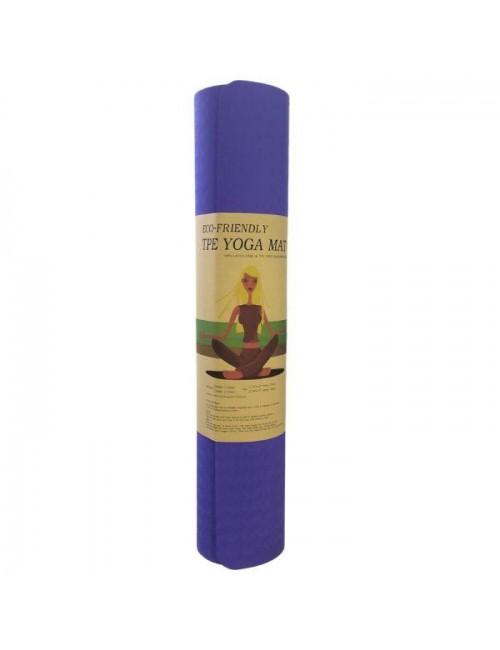 Στρώμα γυμναστικής Large  Yoga Mat 6mm 183 x 61 cm μπλε